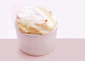 soufflé à la compote de fruits rouges